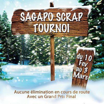 Un tournoi sous la neige chez Sagapo-scrap !