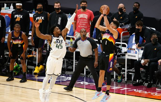 Devin Booker et Chris Paul viennent à bout du Jazz de Donovan Mitchell