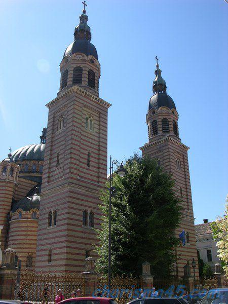 Cathédrale orthodoxe de Sibiu, Roumanie en camping-car
