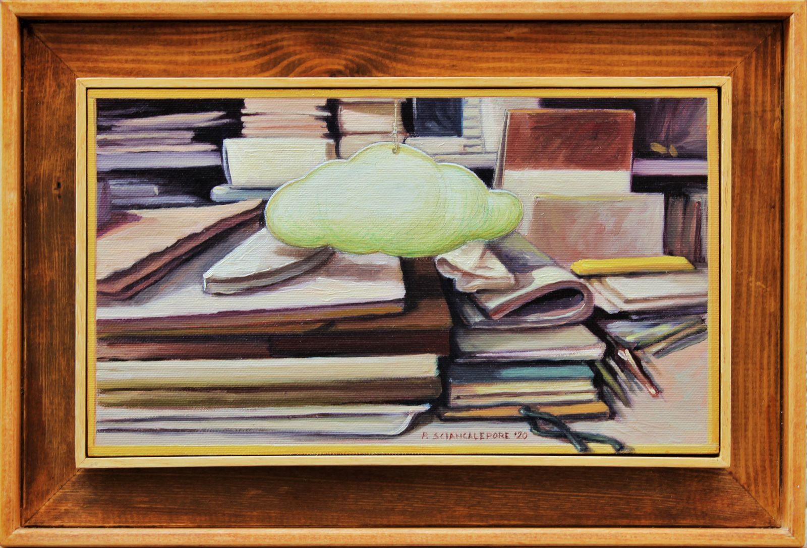 Sogni di carta, olio su tela (17,5x30) - 2020
