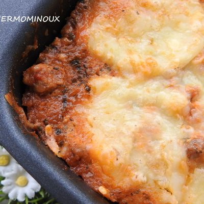 GRATIN D'AUBERGINES FACON MOUSSAKA CUISSON AU CAKE FACTORY (thermomix)