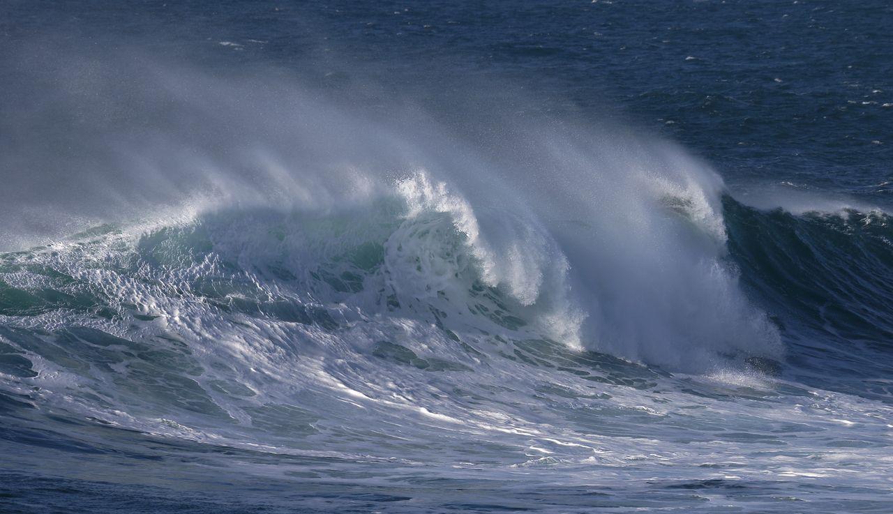 Forte houle sur la mer d'Iroise (route touristique de Landunvez) 10 février 2021