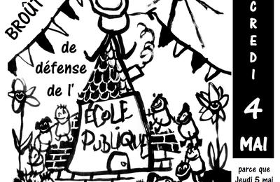 Fête départementale de l'école publique à Broût -Vernet