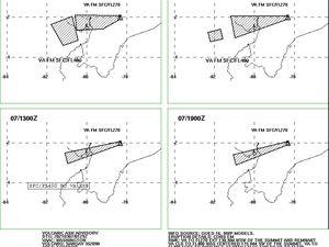 Sangay - Volcanic ash advisory pour les 6 et le 7 mars 2021 - Doc. VAAC Washington - un clic pour agrandir