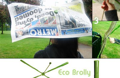 Eco-Brolly, un parapluie disons... adaptable