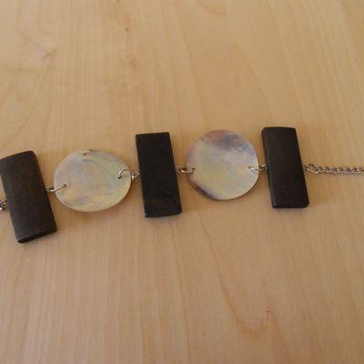 Bracelet bois & coquillage neuf