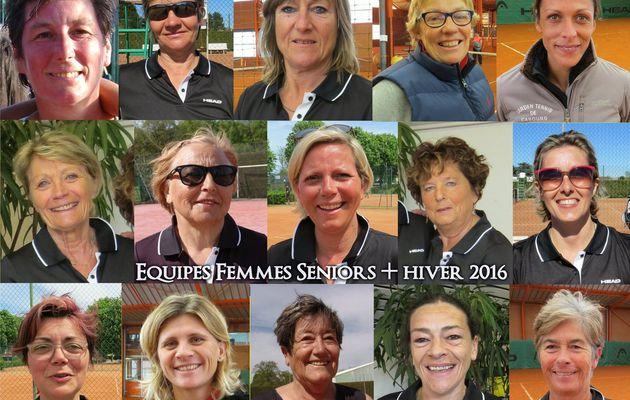 CLASSEMENT POULES FEMMES SENIORS + HIVER 2016
