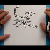 Como dibujar un escorpion paso a paso 2   How to draw a scorpion 2