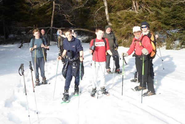 Sortie raquettes dans les Hautes-Vosges pour le groupe Montagne