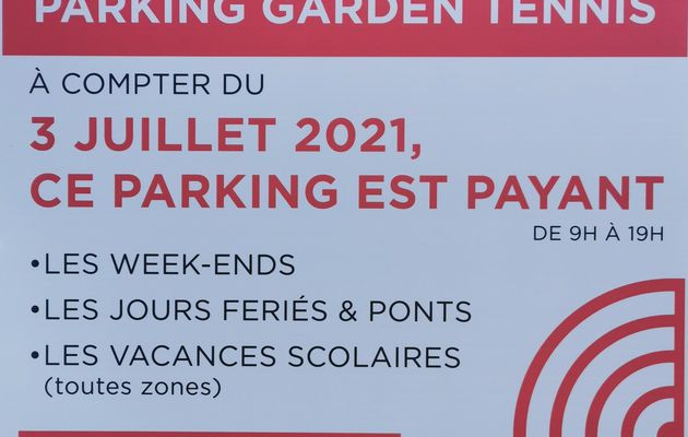 ATTENTION PARKING PAYANT !