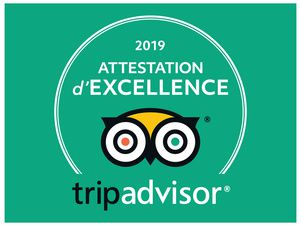 certificate of excellence Tripadvisor: 3d year!