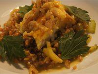 Lotte au curry de noix