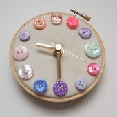 Pastel Flowers Mini Wall Clock