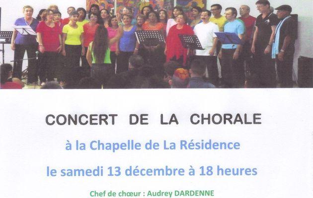 Concerts de la chorale les 13 et 21 décembre