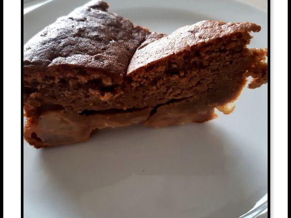 Gâteau fondant au chocolat & poires
