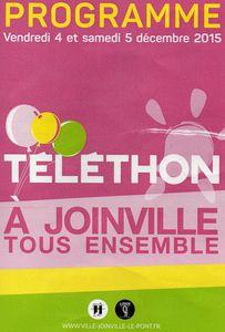 Joinville-le-Pont se mobilise pour le TELETHON 2015