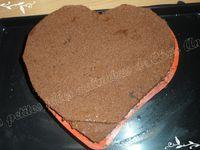 Bavarois framboise / chocolat d'après la recette d'Imane