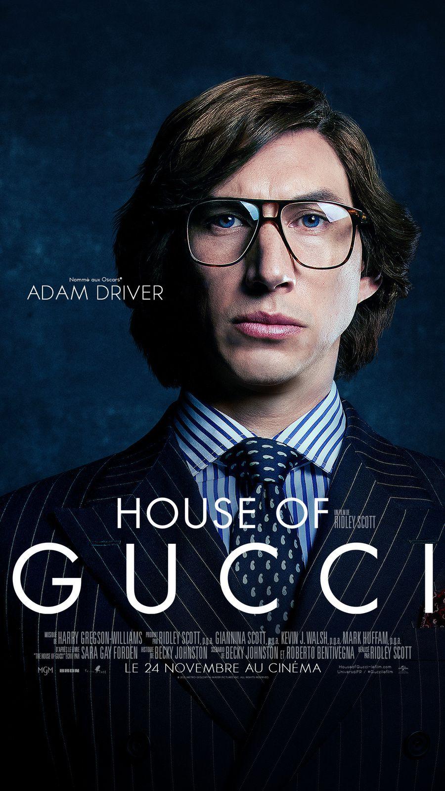 HOUSE OF GUCCI, au Cinéma le 24 novembre 2021 de Ridley Scott, avec Lady Gaga, Adam Driver, Jared Leto, Jeremy Irons et Al Pacino
