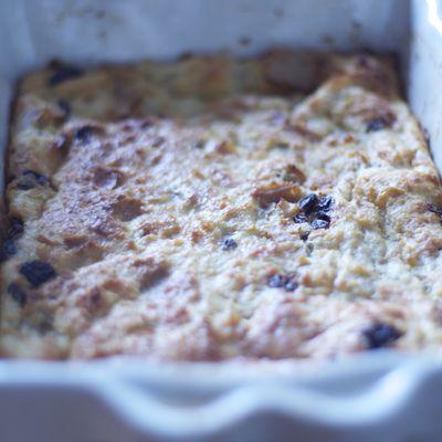 Pudding de pain aux raisins secs
