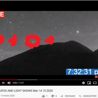 Ovnis filmés au volcan Popocatepetl au Mexique les 14 et 15 mars 2020