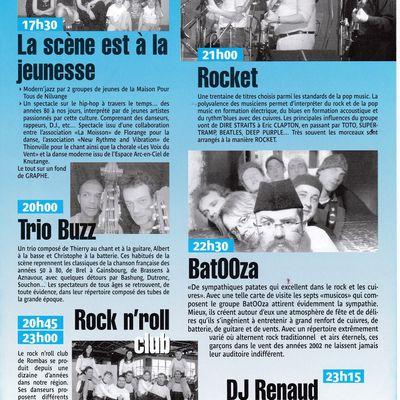 Les Rockets au Festival de Musique à Algrange en 2005