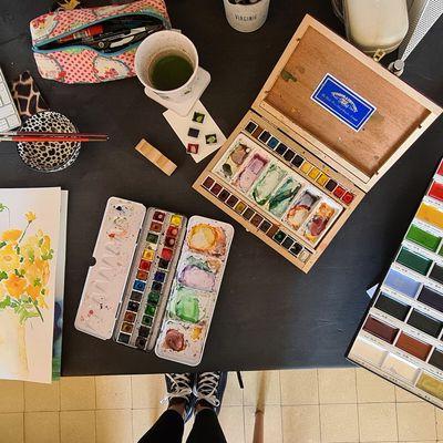 Ma pratique de l'aquarelle et mes choix de palettes