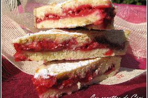Gâteau Basque aux framboises