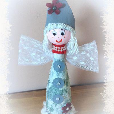 Mon 1er ange de Noël, en bouteille recyclée !