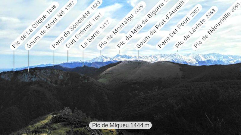 Pic de Miqueù 1464m.