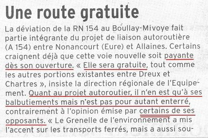 La D.R.E et le Ministère des Transports s'expriment (2)