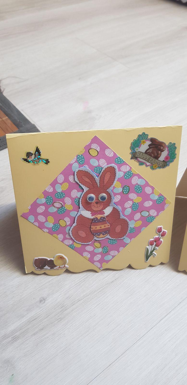 Puis Lucie et Leonie m ont inspiré  avec leur petites cartes pendant les vacances alors j ai copié