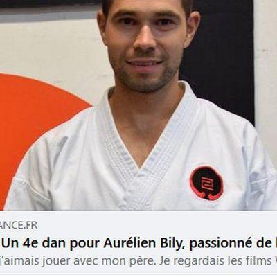 Un 4e dan pour Aurélien Bily, passionné de karaté