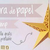 Lámpara de papel DIY en forma de estrella