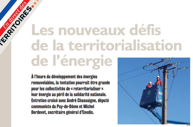 Les nouveaux défis de la territorialisation de l'énergie - Entretien croisé paru dans L'élu d'aujourd'hui