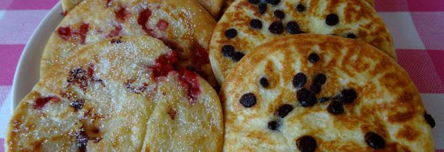 pancakes noix de coco-chocolat ou noix de coco-fraises