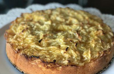 moelleux aux pommes râpées mandarines et citron كيكة التفاح المندرين و الحامض