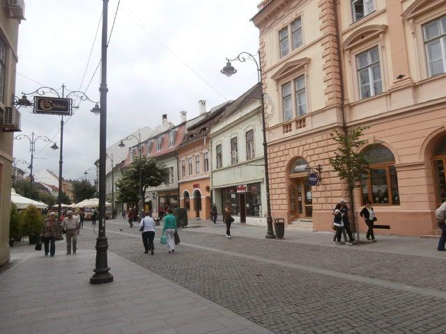 """La ville de Sibiu, très séduisante, superbement restaurée et conservée malgré les Ceaucescu, ville bastion de la culture allemande, beaucoup d 'échanges avec les allemands qui la fréquente nombreux et la nomment encore Hermannstadt. Sur les toits ; lucarnes en forme d amande appelées """"les yeux de Sibiu """". Sa Cathédrale ortodoxe  Sfanta Treime ressemble à """"Sainte Sophie"""" d Istanbul. Les premiers saxons sont arrivés dans la région au XII siècle. On y parle aussi  allemands"""