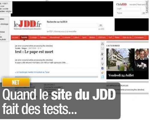 Quand le site du JDD fait des tests…