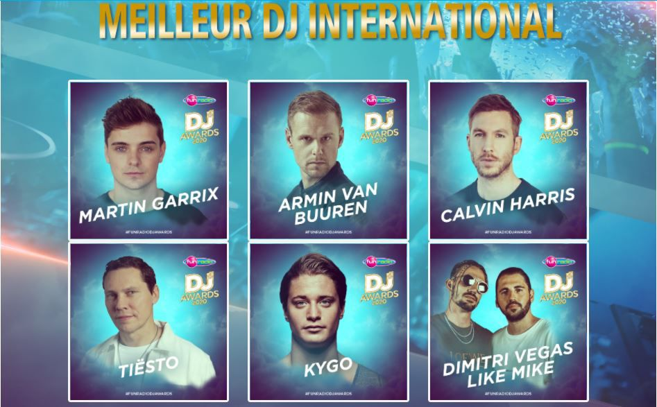 fun radio dj awards 2020, best dj international