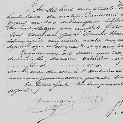 Guerre de 1870 morts du Val de Sarthe : Jean Gohon