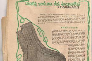 Socquettes à tricoter en coton perlé
