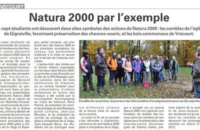 Tignécourt : Natura 2000 par l'exemple (Vosges Matin)