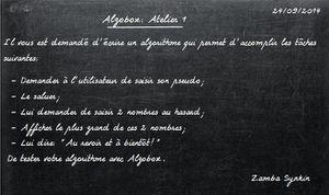Algobox: Atelier 1