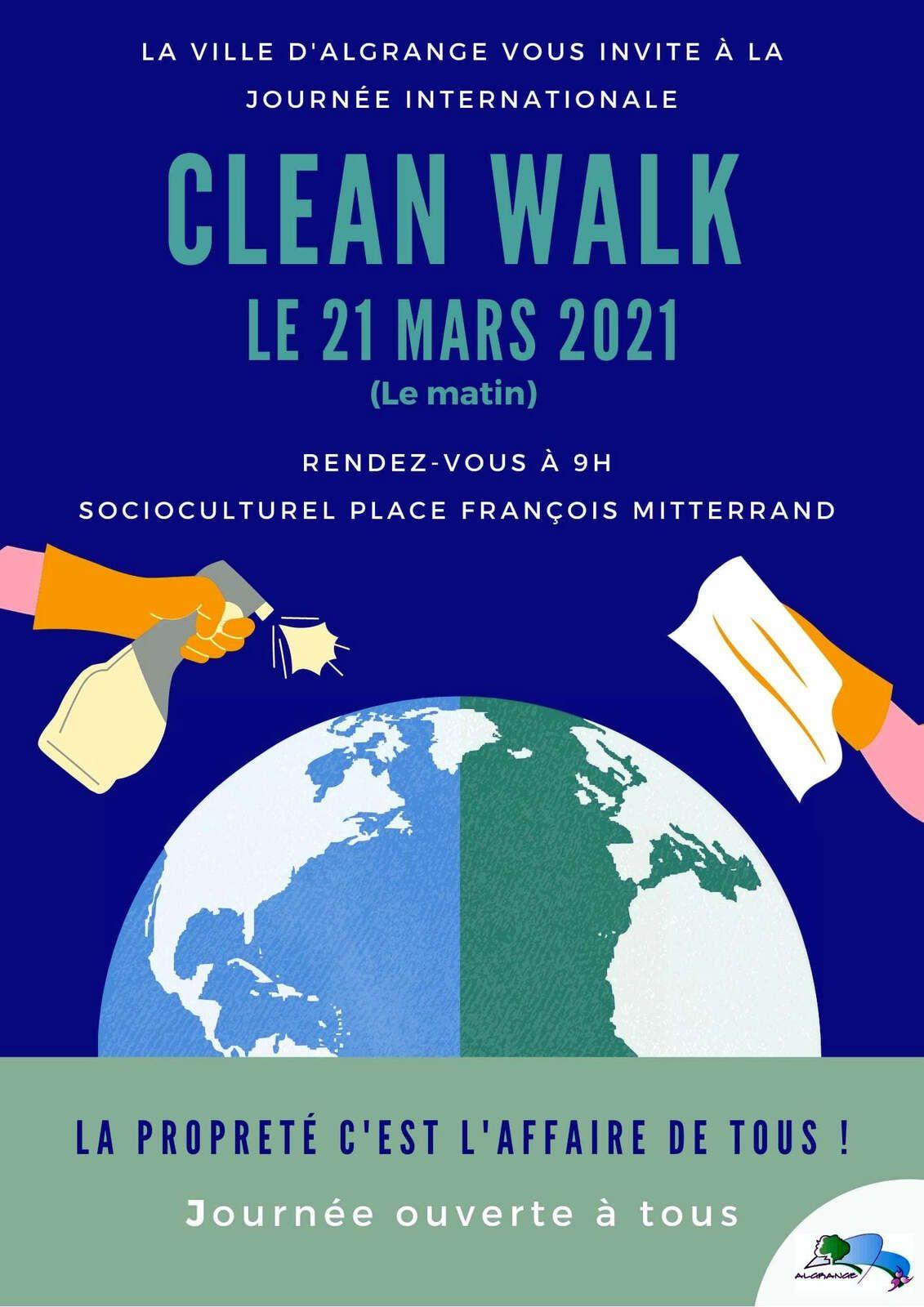 """Nettoyage de printemps """"CLEAN WALK"""" à Algrange en 2021"""