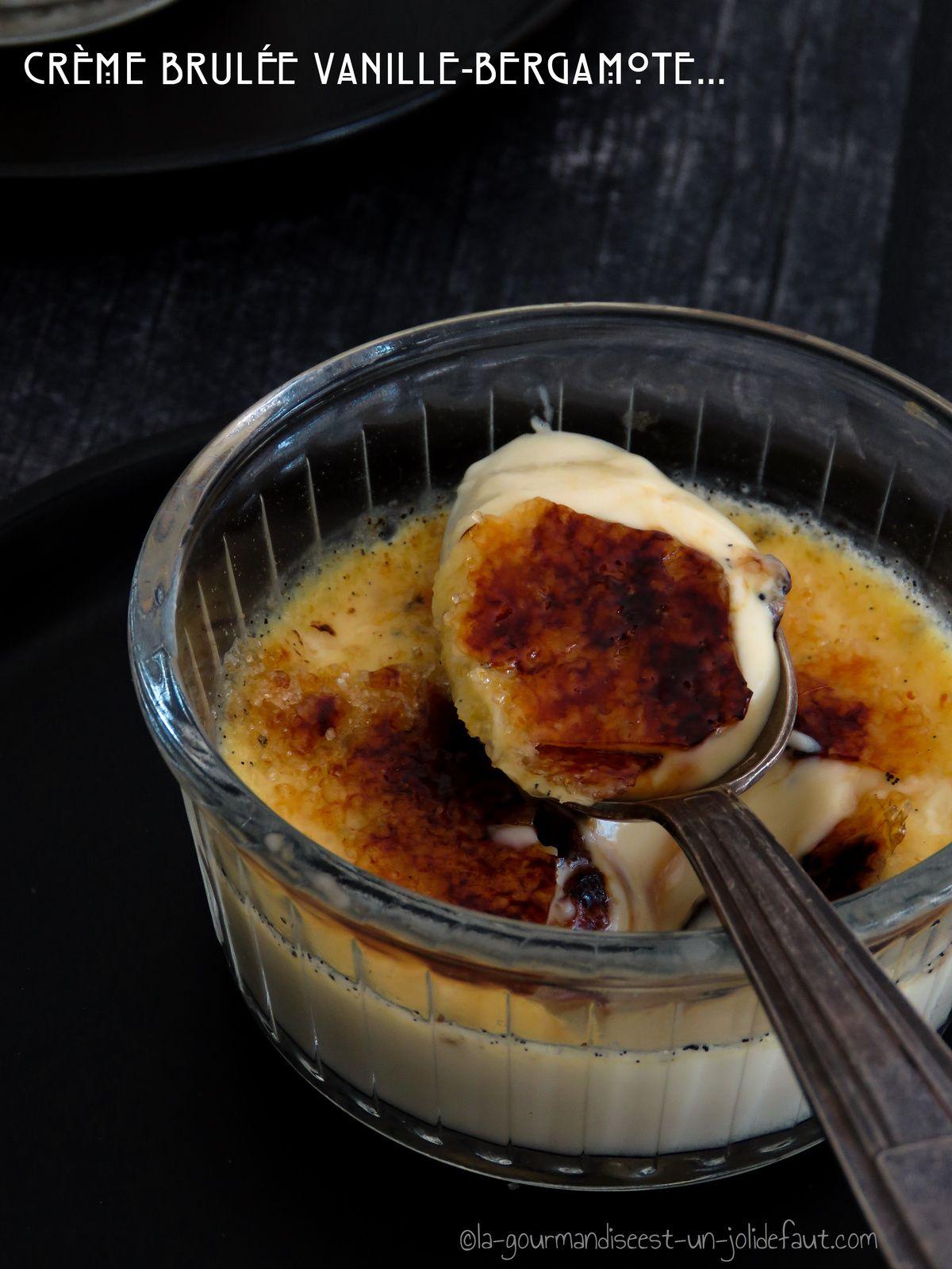Crèmes brûlées à la bergamote