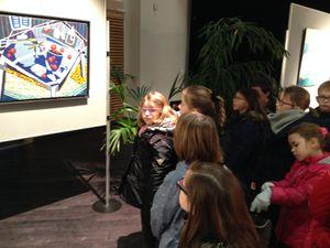 Les élèves de Morgane ont visité le salon de peinture et de sculpture