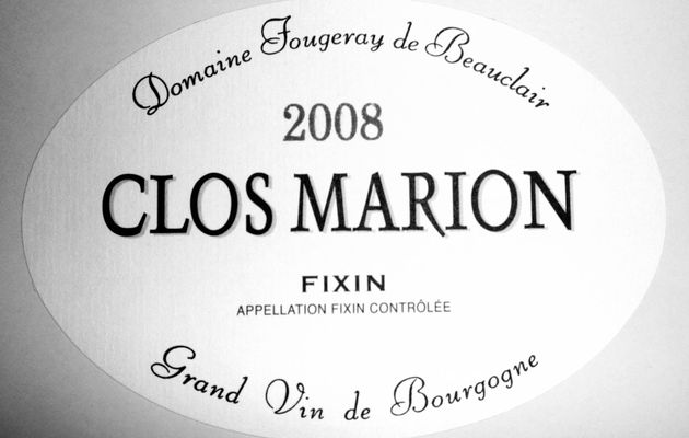 "Fixin ""Clos Marion"" 2009 Domaine Fougeray de Beauclair (blanc)"