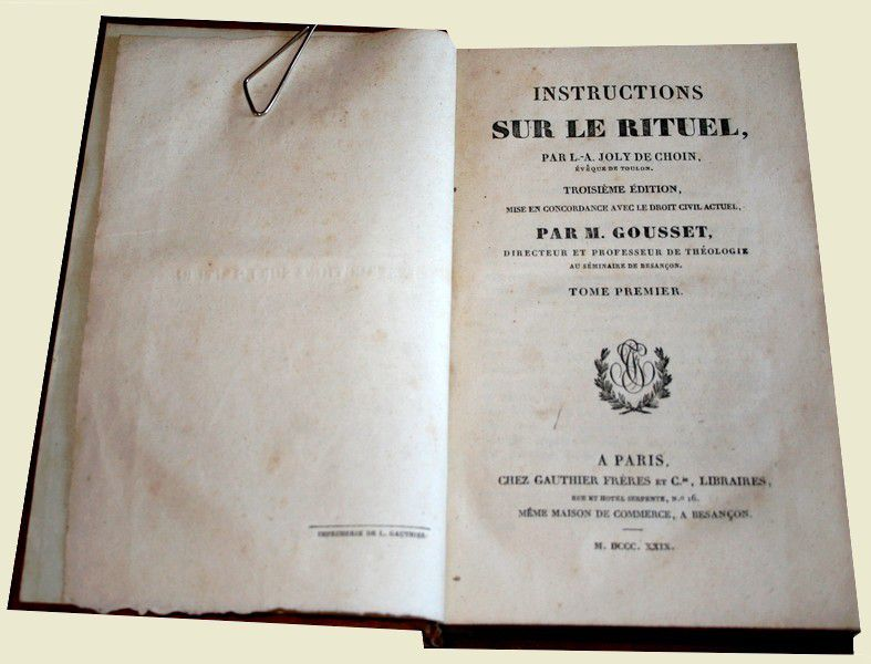 Instructions sur le Rituel (Rituel de Toulon).