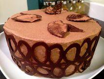 Forêt noire revisitée gâteau à étage