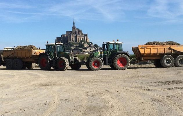 Chantier au Mont Saint Michel